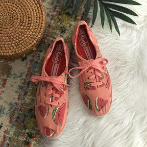 Keds Pink Watermelon Low Top Lace Up Sneakers